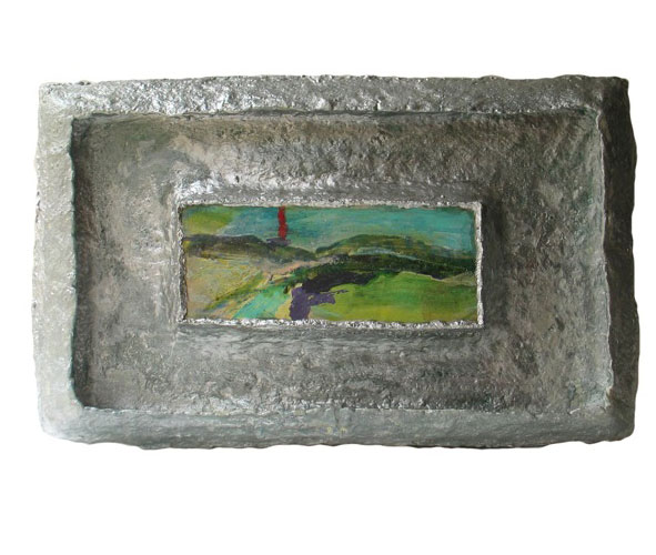 painting in silver frame