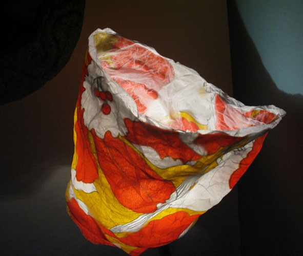 paper and textile lamp