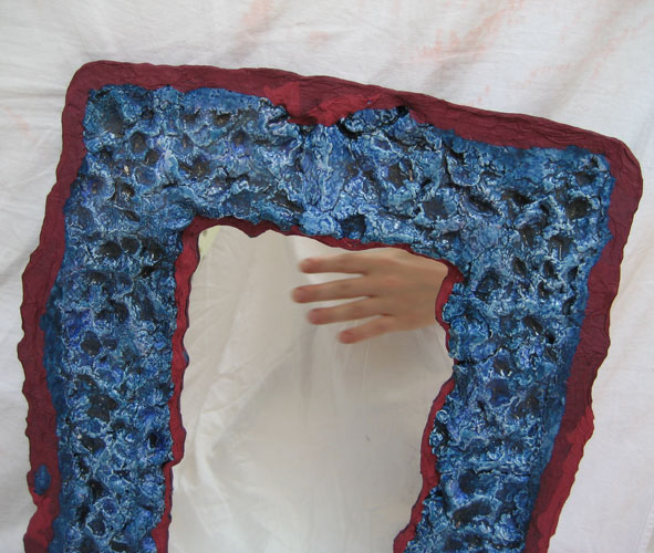 frame blue with holes